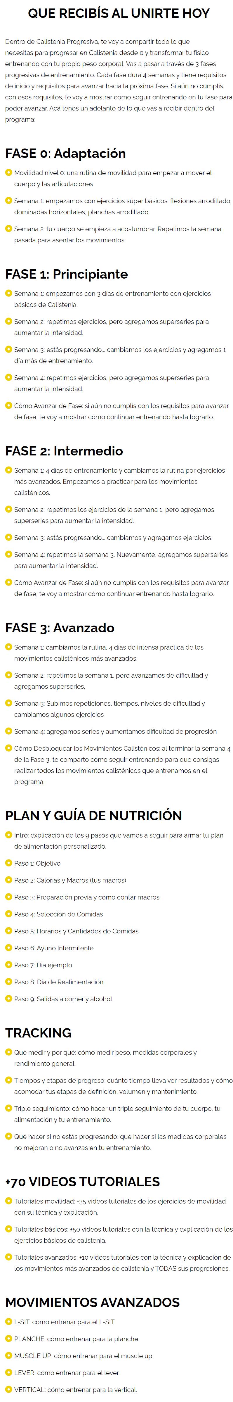 Calistenia Progresiva 2.0 - Fasting Shape gratis